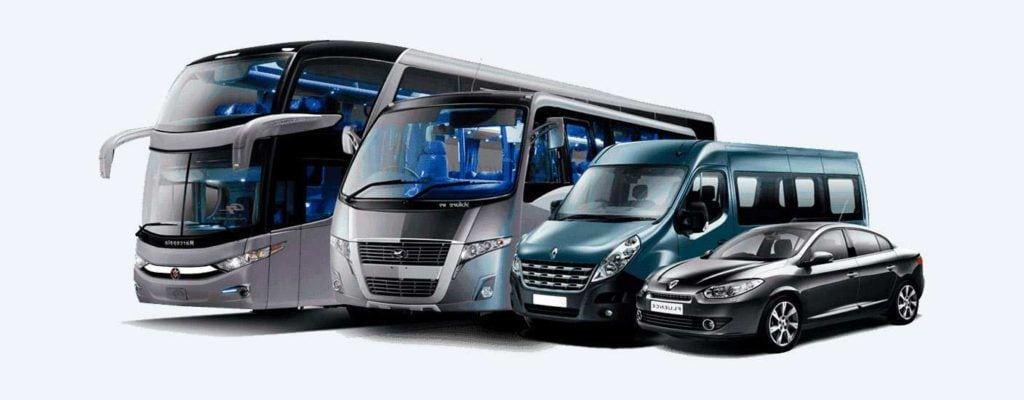 Frota de vans, ônibus, micro-ônibus e carros